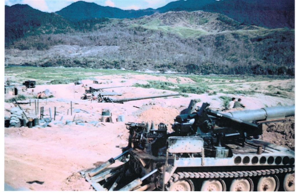 B-Batry, Ca Lu, 175 MM guns covering Khe Shan.
