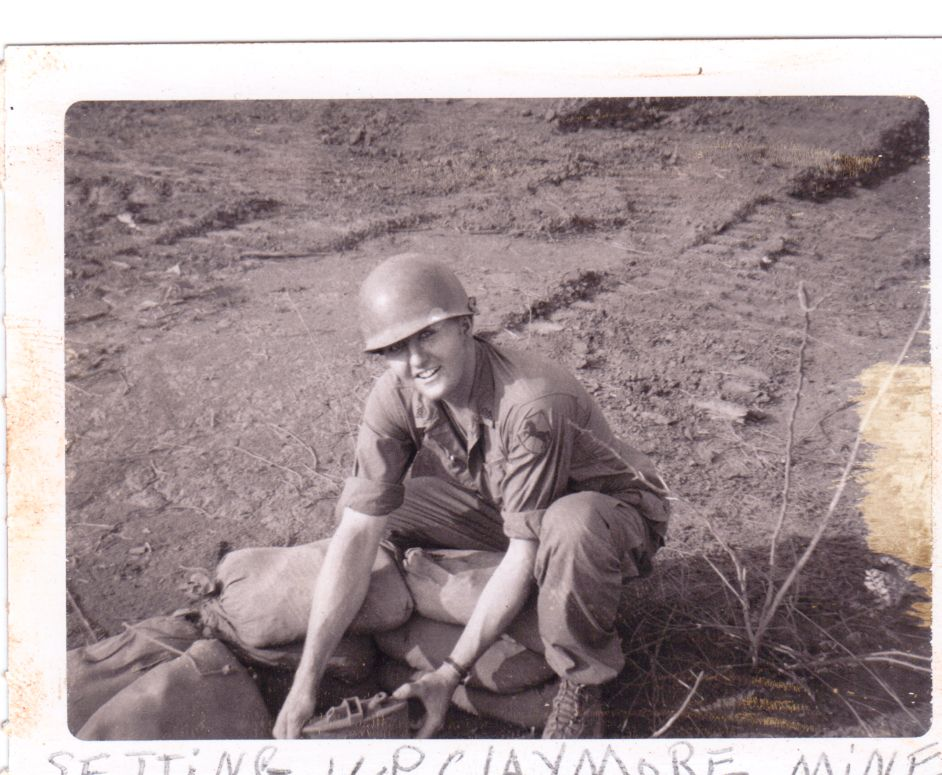 Bill Pasch installing a Claymore mine in Vietnam.Bill was KIA on May 11,1968.