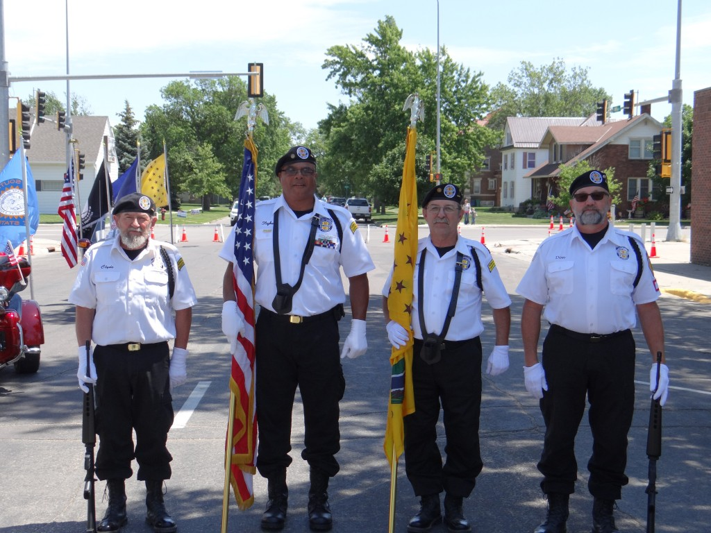 Color Guard Darwin Clyde, Steve Houston, Greg Dubois & Don Pasch