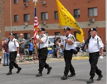 Members in the VVA Color Guard were Darwin Clyde, Stephen Annett, Don Pasch & Dennis Solberg. Not pictured is Ray Feist.